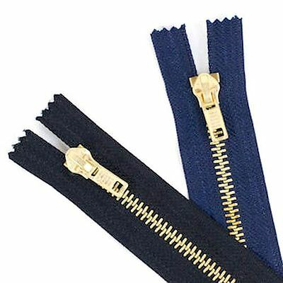 No Jeans Zips Metal Teeth 5 Medium//Heavy Duty Choices of Colours and Lengths