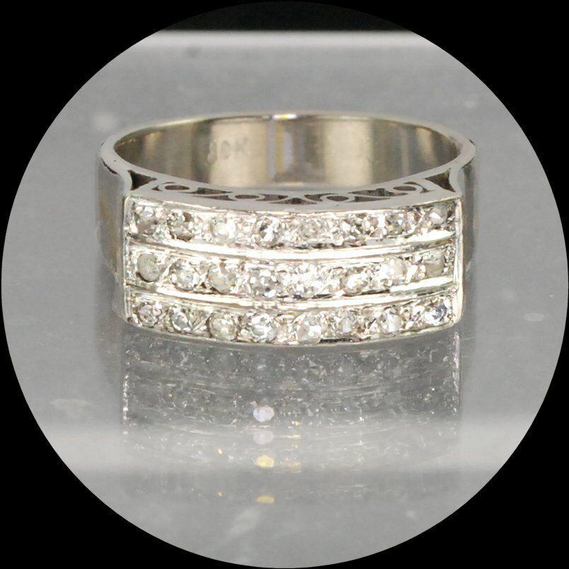 219927df9abbc diamonds, rows three ring, gold white estate Sparkling rings of M-F ...