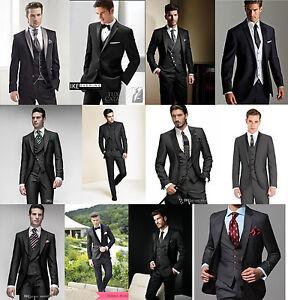 2018 New Groom Tuxedos Tailcoat Best Man Suits Wedding Groomsman 3 ...
