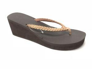 Sanuk Yoga Braided Wedge Sandals Flip