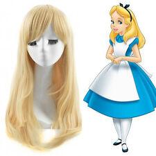Disney Alice In Wonderland Alice Wig Heat Ok Long Straight Light Blonde Wig
