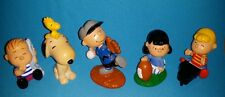 SET OF 5 PEANUTS FIGURES -3'' APPLAUSE CHARLIE BROWN LINUS SCHROEDER SNOOPY LUCY