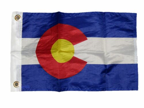 "12x18 12/""x18/"" State of Colorado Motorcycle Flag Grommets"