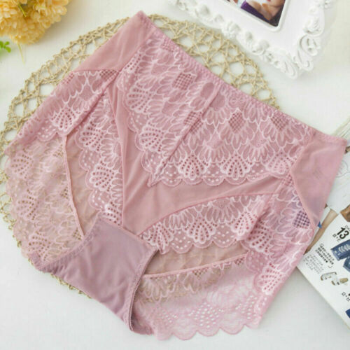 2XPlus Size Women Floral Lace Sheer Briefs Panties Stretch Underpant Knicker