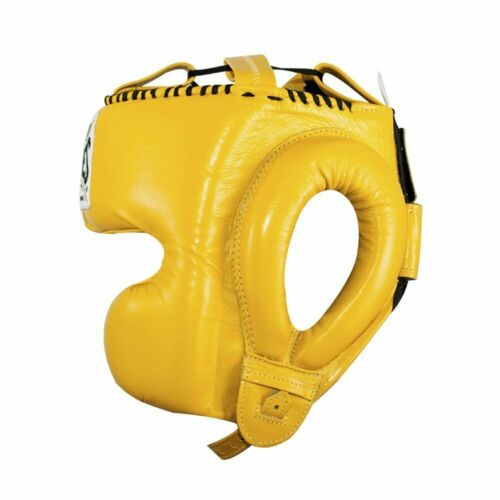 Cleto Reyes Head Guard Boxing Headguard Cheek Protection Yellow Sparring