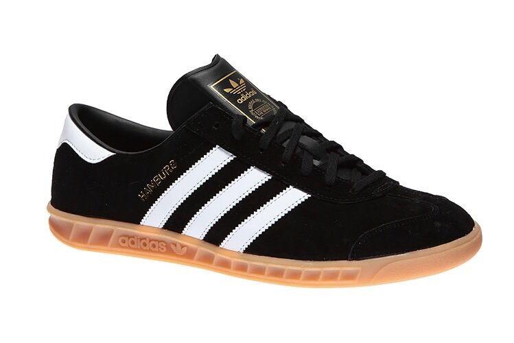 Nuove adidas amburgo velluto nero nero nero / bianco ciuffo uomini 8,5 spezial samba fd91ff