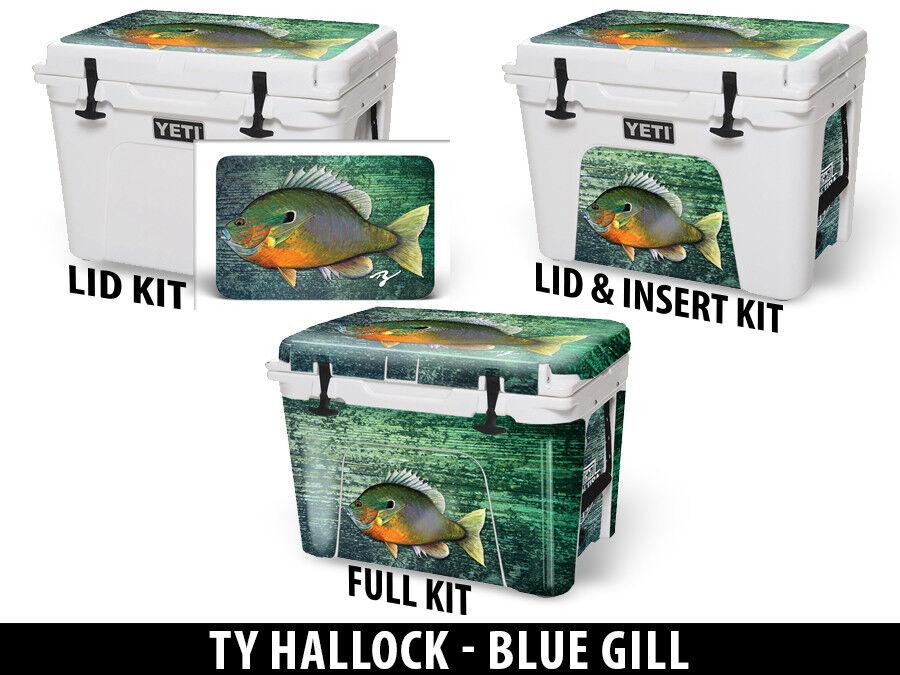 USATuff Custom Cooler Decal FULL Wrap fits YETI Tundra 65qt FULL Decal Ty Blau Gill c6bfed