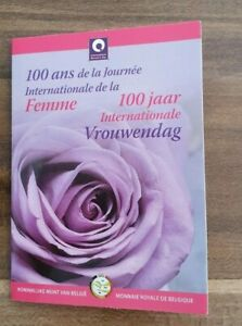 Coincard-mit-2-Euro-Gedenkmuenze-Belgien-2011-BU-Weltfrauentag
