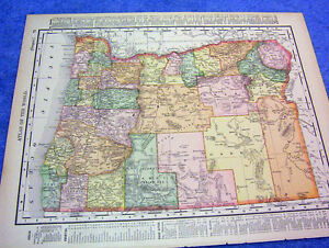 Details About Antique Map Of Oregon W Railroads Mountain Ranges Nicely Illlustrated 1901