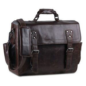 15'' Unisex Convertible Bag | Leather Backpack | Leather Briefcase | Leather Bag