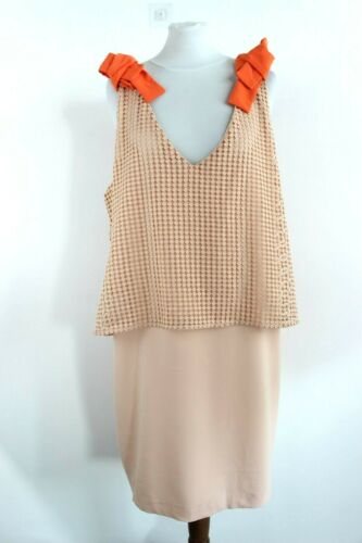MADEMOISELLE Peach Sleeveless Crochet Top Dress Si