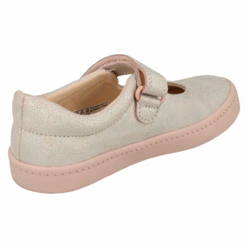 GIRLS TODDLER CLARKS LEATHER HOOK /& LOOP MARY JANE CASUAL SHOES CITY GLEAM SIZE