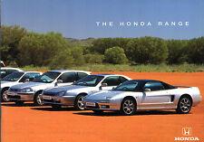 Honda 1997-98 UK Market Brochure Civic CRX Accord Prelude Legend Shuttle NSX CRV