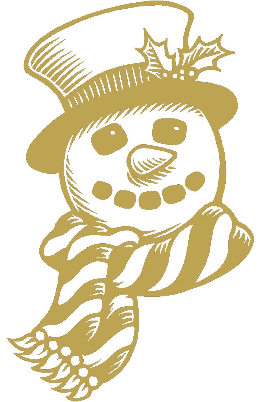 (wd0804 oro) applicazione adesivo adesivo adesivo decorazione pupazzo di neve versch. MISURE 5bb6ec