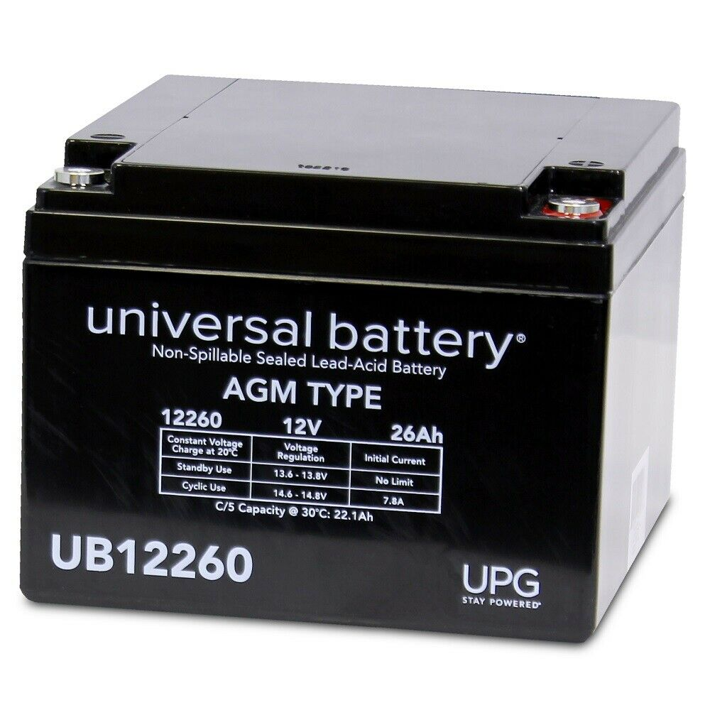 UPG 12V 26AH Replacement Battery for ABIOMED BVS 5000T TRANSPORT CONSOLE