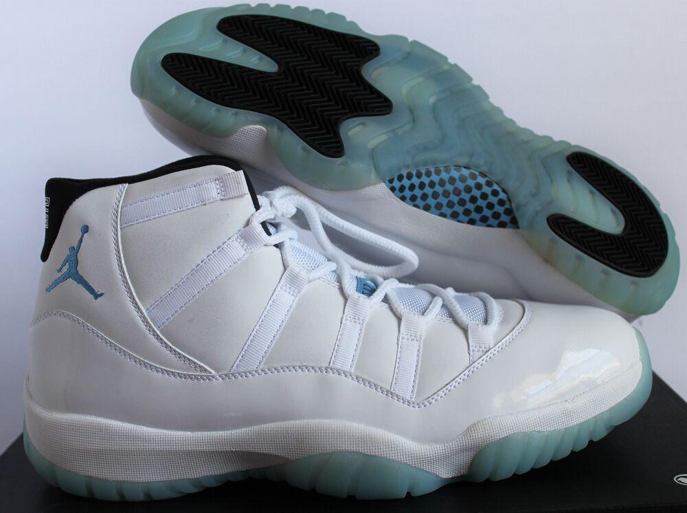 Nike Air Jordan 11 Legend Blue Retro XI Columbia blanc Homme  Chaussures de sport pour hommes et femmes