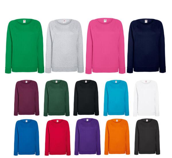 Fruit of the Loom Damen Pullover Raglan Sweatshirt Sweater