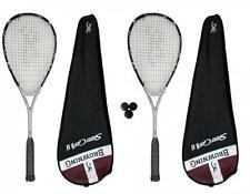 2 x Browning Super Gun Ti 140 Squash Rackets + 3 Squash Balls RRP £390