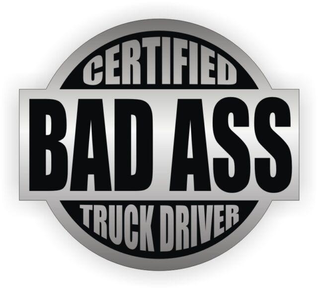 Bad Ass FORK LIFT OPERATOR Certified Hard Hat Decal Funny Helmet Sticker 2 PACK