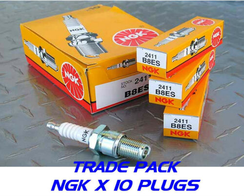 2411 10x New Genuine NGK Replacement Spark Plugs b8es Stock No