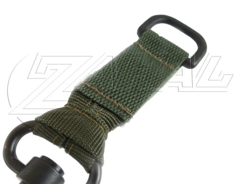 Zahal Single // Double Point OD Green Pair of Tactical Rifle Sling Adapters