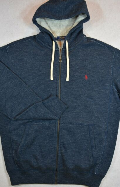Ralph Xxl Zip 2xl Blue Jacket Hoodie Lauren Wtags Full Polo Sweat nO0Pwk