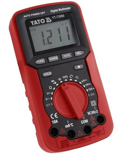 Digitales Multimeter 10 Amp. beleuchtetes Display -20° C bis + 1000°C YT-73086