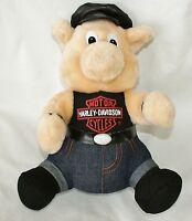 1998 Harley Davidson Motorcycle Pig hog Plush Stuffed Toy Authentic Hat shirt