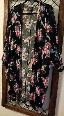 Clothing, Shoes & Accessories Qualified Bobeau Women's Cardigan Roses Dolman Sleeve Top Size S Sweaters