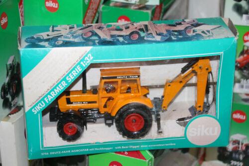 SIku 3756 Agrostar 6.61 Deutz Fahr mit Heckbagger aus Sammlung