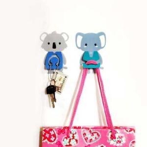Cute-Animal-Hanger-Koala-Elephant-Set-Bath-Room-Office-Holder-Wall-Stickers
