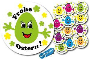 Frohe-Ostern-Aufkleber-Set-Rund-35mm-Durchmesser-Deko-Sticker