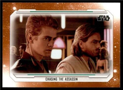 2019 Topps Star Wars Skywalker Saga Orange #13 Chasing The Assassin