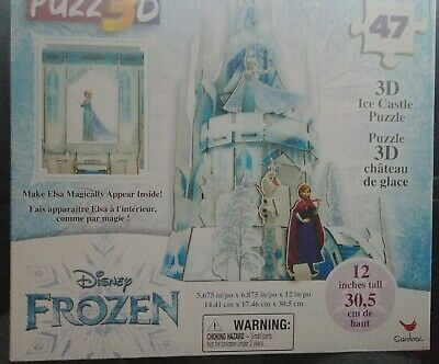 Disney Frozen PUZZ3D Elsa's Ice Castle 3D Puzzle New Free Priority Shipping