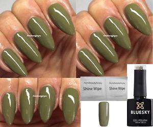 Details About Bluesky Green Olive Khaki Wf05 Dried Herb Winter Nail Gel Polish Uv Led Soakoff