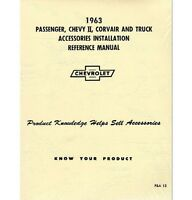 1963 Chevy Truck Accessory Installation Manual