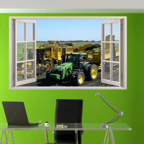 POTATO HARVESTER TRACTOR WALL STICKERS 3D ART MURAL ROOM OFFICE SHOP DECOR UD5