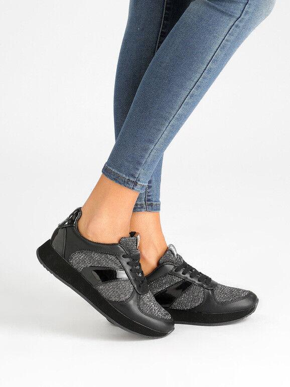 Chaussures Casual Avec Lurex Femme