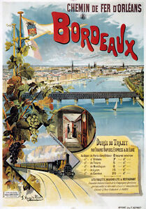 TX88-Vintage-Bordeaux-France-French-Railway-Travel-Poster-Re-print-A2-A3