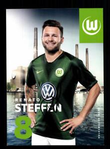 Renato Steffen Autogrammkarte VFL Wolfsburg 2018-19 Original Signiert+A 205564