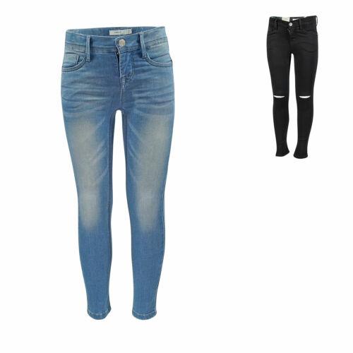 NAME IT nkfpolly Mädchen Jeans Skinny Slim fit Denim Kinder Hose Stretch