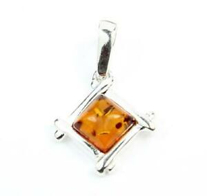 SilverAmber-Jewellery-Pendant-GL236-925-Sterling-Silver-Baltic-Amber-Stone