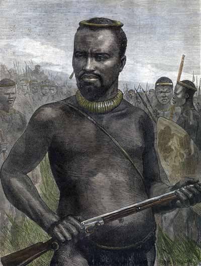 Zulu Warrior Dabulamanzi 19thc Classic Repro Art Print 7x5 inches