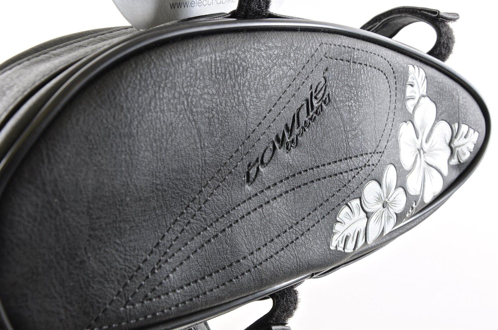 Electra Townie Femmes Cadre Sac Classe type USA type Classe Cruiser, DRAGSTER motif fleuri noir cae635
