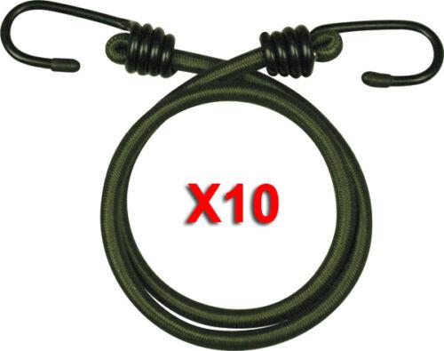 Gummizug Bungees X 10 Olivgrün Military 45.7cm Kordeln Elastisch 45CM Schwerlast