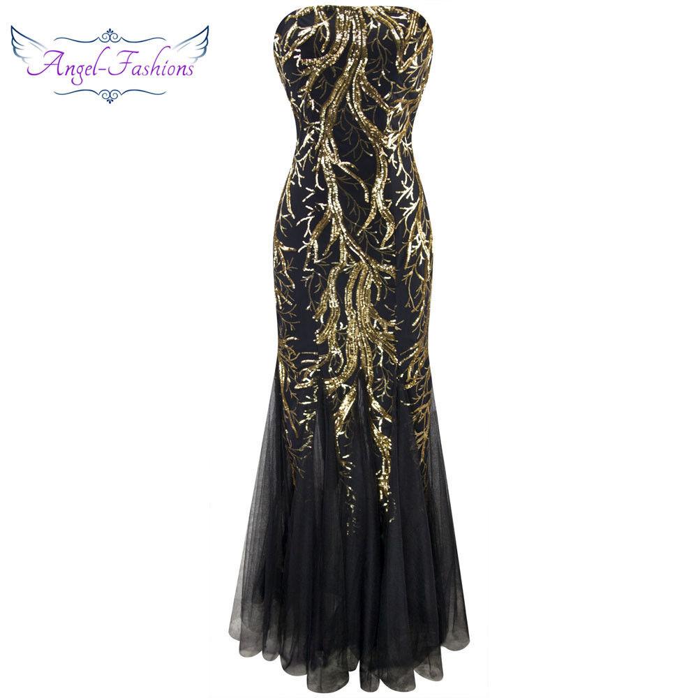 Angel-fashions damen Sequin Branch Pattern Mermaid Sheath Evening Dress  101