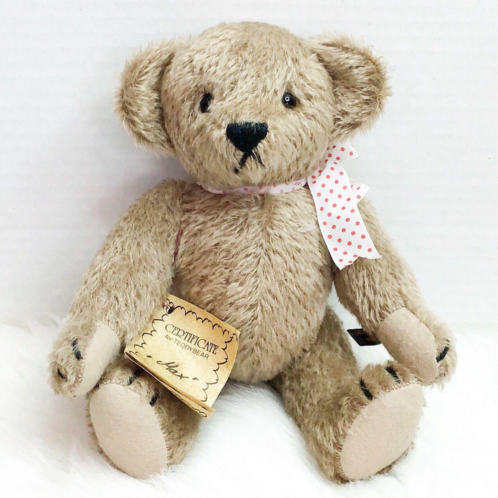 Vintage Johanna Haida Max Handcrafted Mohair Teddy Bear Made in Germany 1994