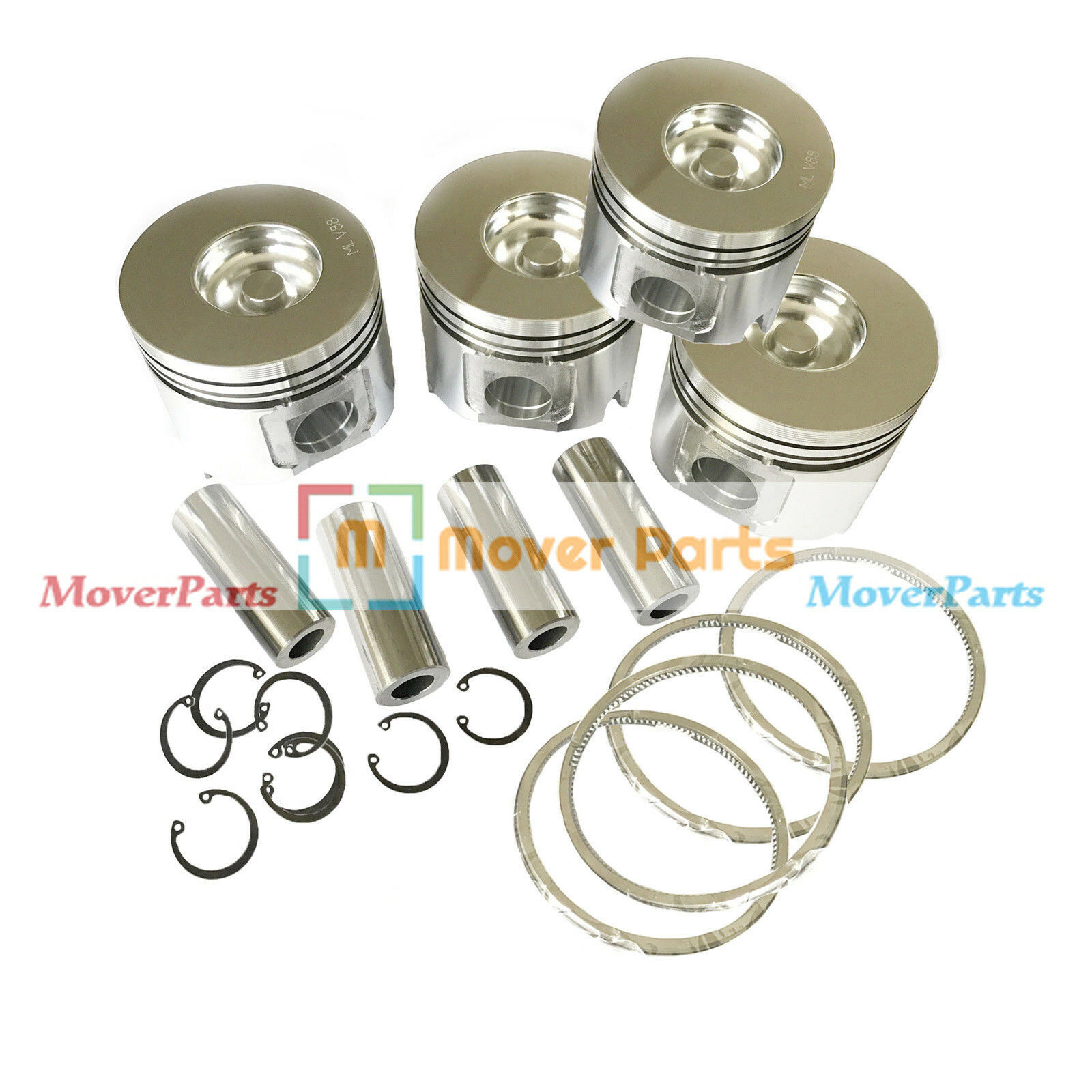 Piston & Ring Kit STD YM123907-22081 YM123907-22050 for Yanmar 4TNV106 4TNV106T