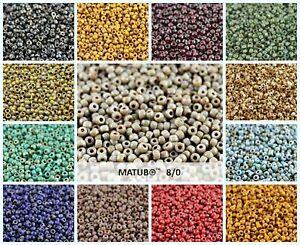 CHOOSE-COLOR-10g-8-0-MATUBO-Seed-Beads-Czech-Glass