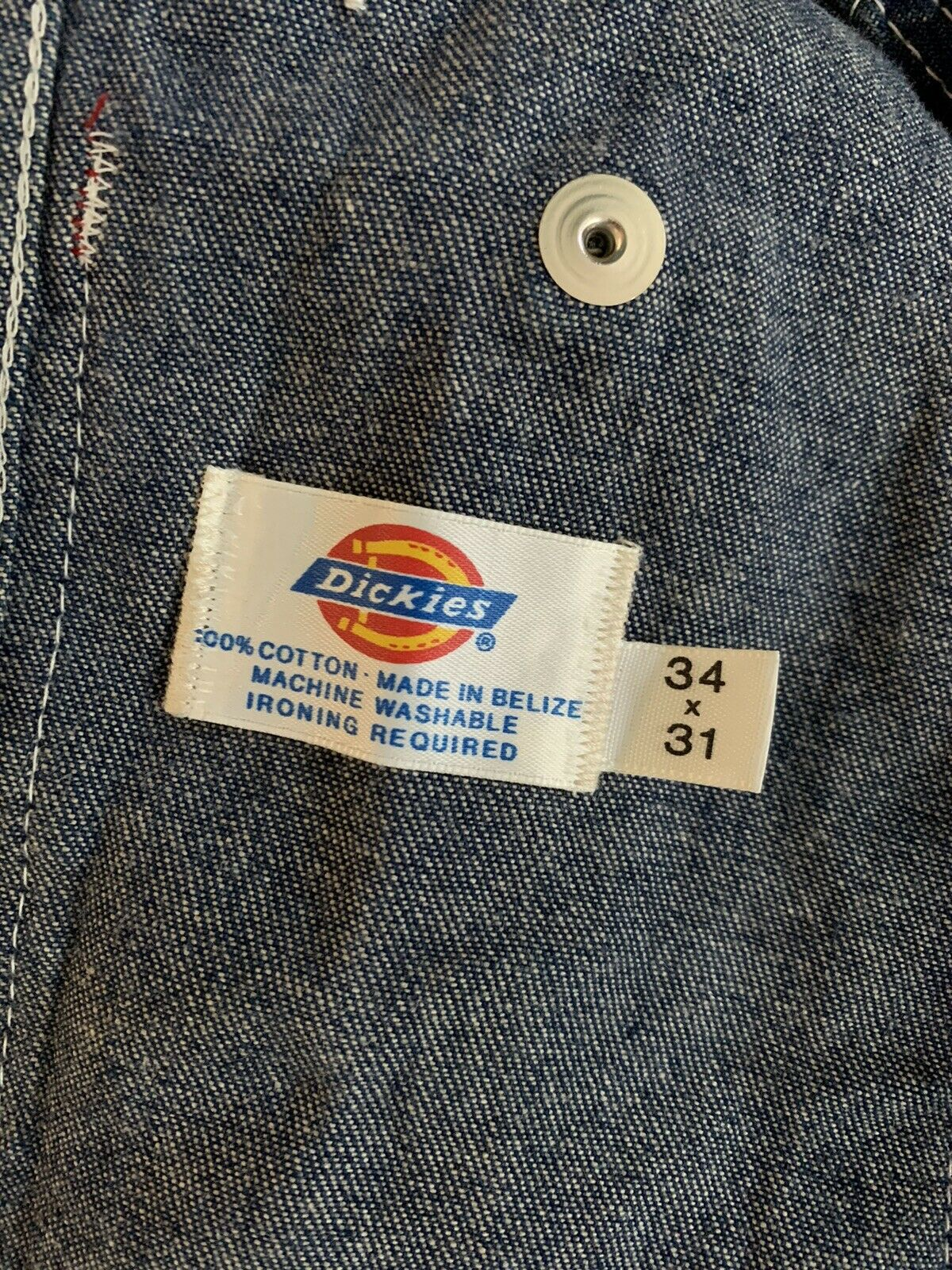 dickies jeans overalls size 34x31 - image 2
